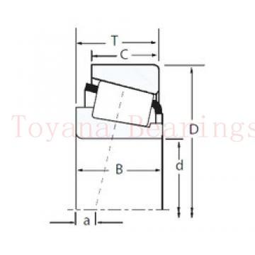 Toyana NCF3080 V cylindrical roller bearings