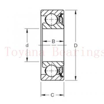 Toyana 7068 B-UX angular contact ball bearings