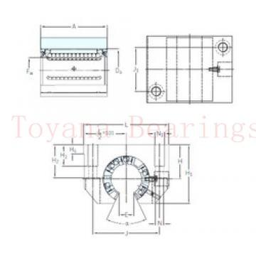 Toyana 3310 ZZ angular contact ball bearings